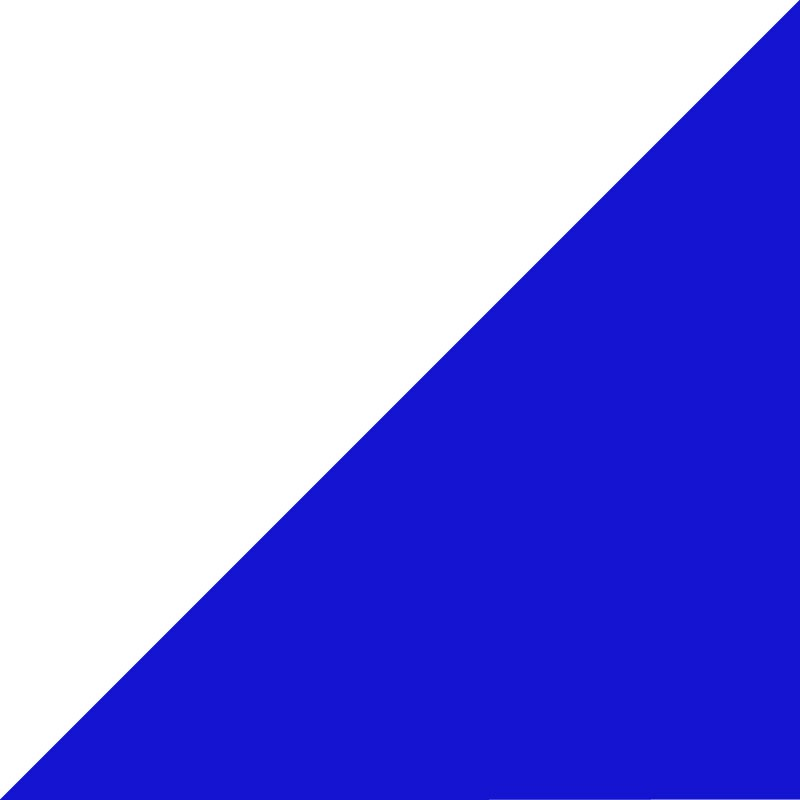 Blanc - Bleu royal