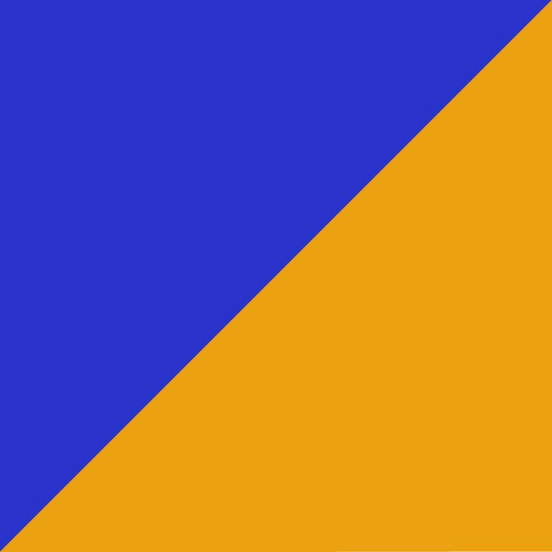 Bleu royal - Orange